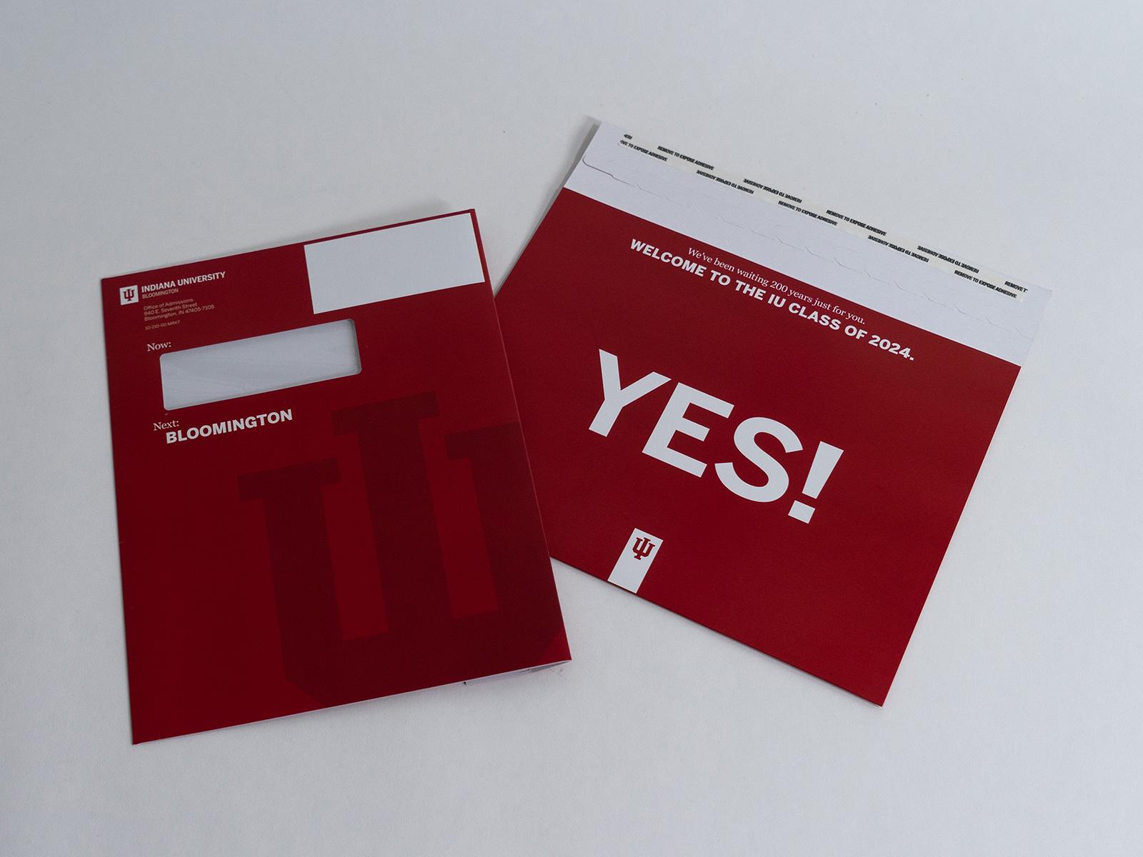 IU Bloomington Admissions Mailer