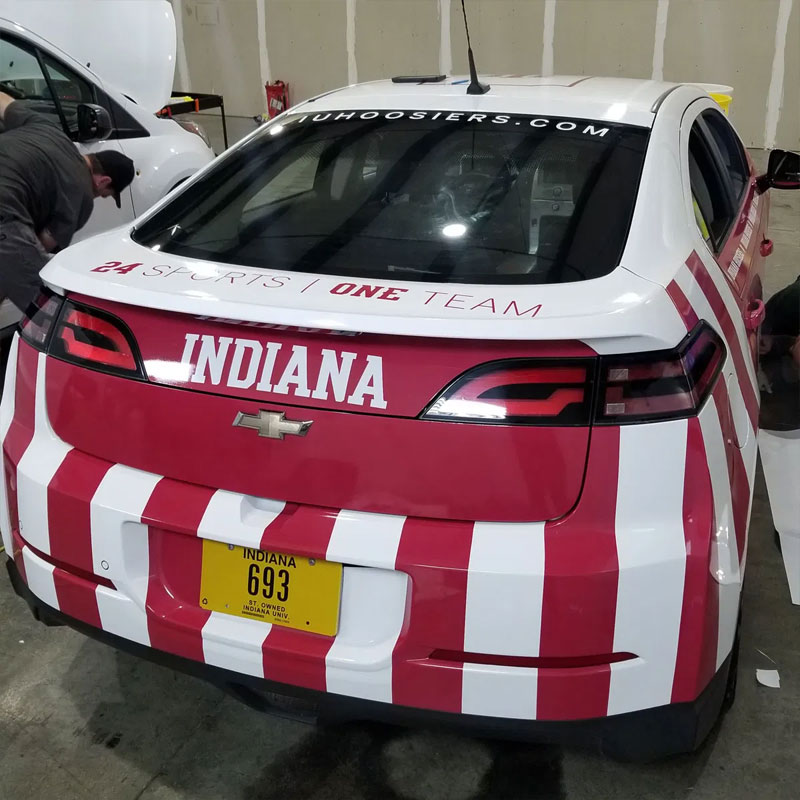 IU Athletics Vehicle Wrap