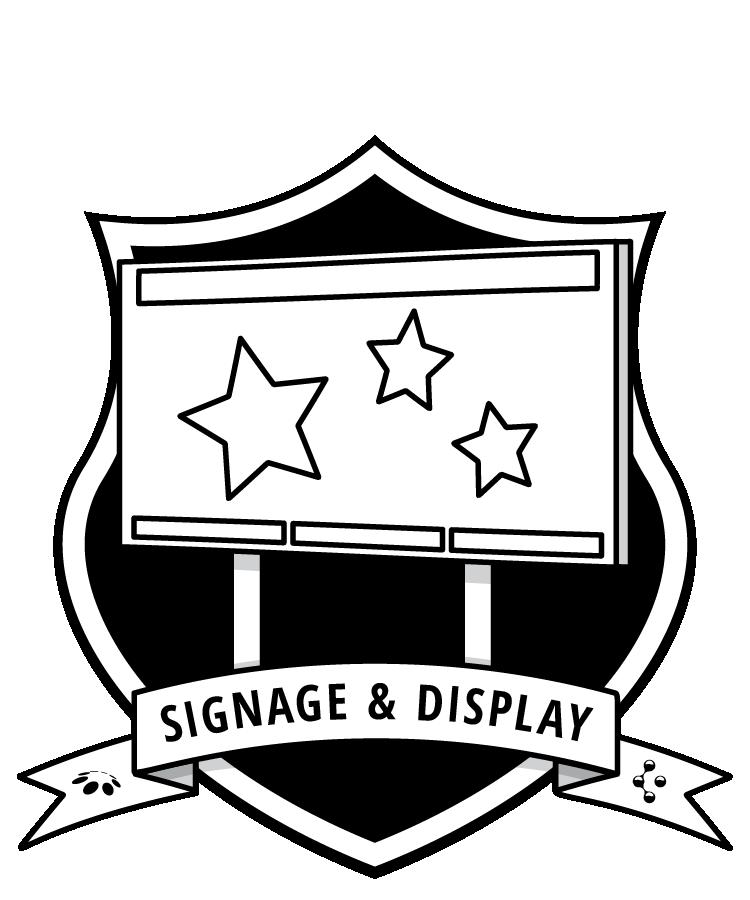 Signage & Display badge